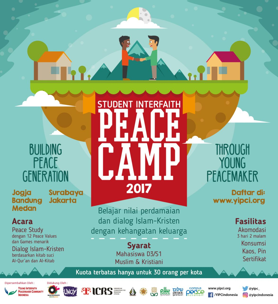Pendaftaran Student Interfaith Peace Camp (SIPC) Oktober-November 2017